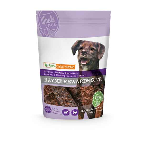 Perfectly paired with our Low-Fat Kangaroo-MAINT diet, Rayne K9 Treat Kangaroo Jerky is healthy and delicious.