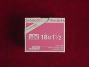 "Needles BD 18 x1.5"" 100/box"
