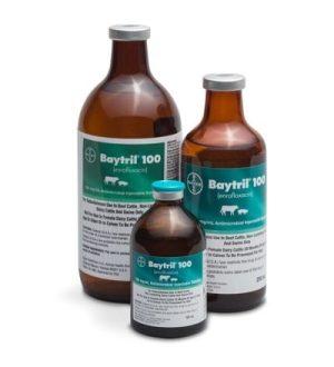 Baytril 100mg/mL 250mL bottle